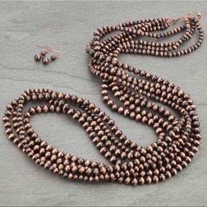 """43"""" Western Navajo Pearl Necklace Set"""